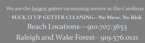 Gutter cleaning banner in Raleigh and Carolinas